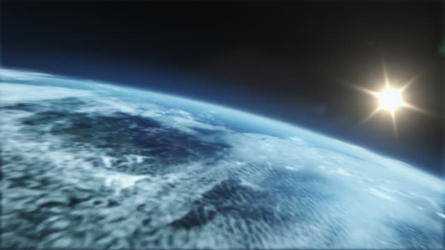 Realistic and detailed earth zoom to city video