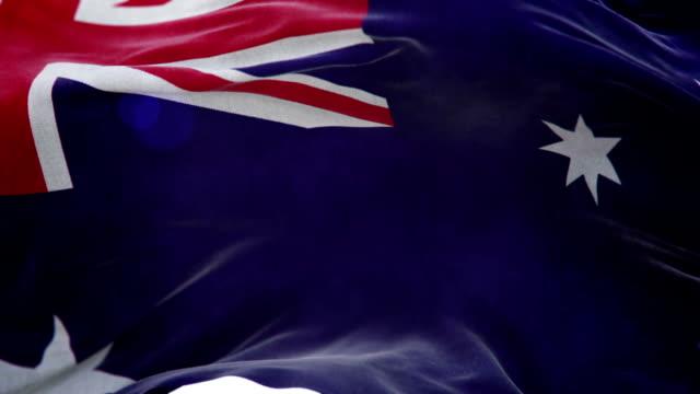 Realistic Australia Flag 3d animation loop video