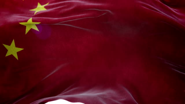 Realistic China Flag 3d animation loop video
