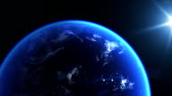Realistic Earth and sunlight video