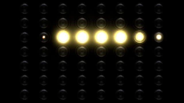 Realistic floodlight 7 animations in 2 versions video