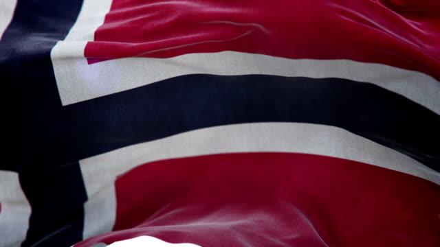Realistic Norway Flag 3d animation loop video