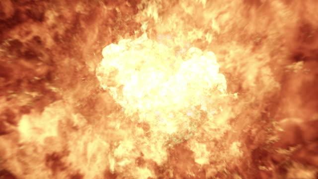 Realistic Slow Motion 4K Fireball Explosion video