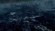 Realistic Stormy Ocean With Lightnings video