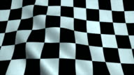 Realistic Ultra-HD checker flag waving in the wind video