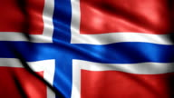 Realistic Ultra-HD flag of Norway waving in the wind. video