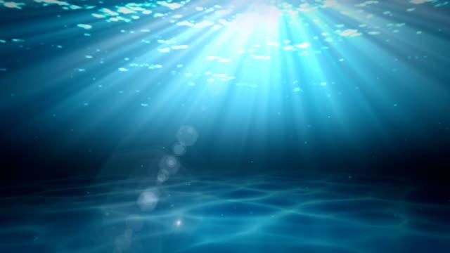 Realistic underwater Scene video