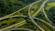 Rear Tilt-up Aerial view of Freeway Junction video