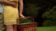 Rear view of a mature couple with a basket video