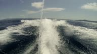 Rear view of a water surface behind Jet-Ski video