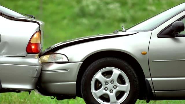 SLO MO Rear-end Collision video