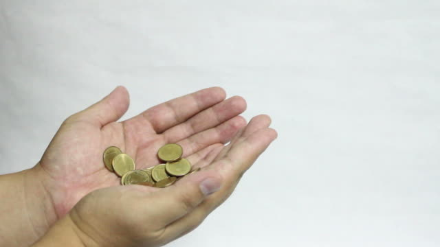 receive gold coins with hand video