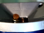 Recession: Counted Coins Falling video