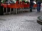 Recession: Couple Walks Past Empty Cafe video