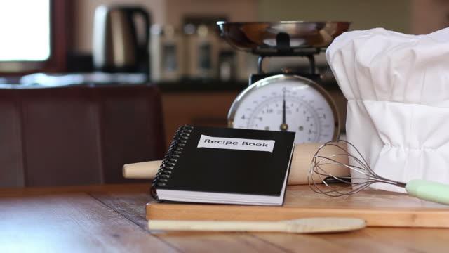 Recipe Book & Baking utensils video