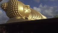 4K DOLLY : Reclining buddha statue video