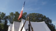 reconstruction of a military camp since the Crimean War video