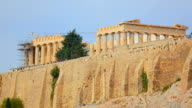 Reconstruction works at Parthenon temple in Athens, Greek cultural heritage video