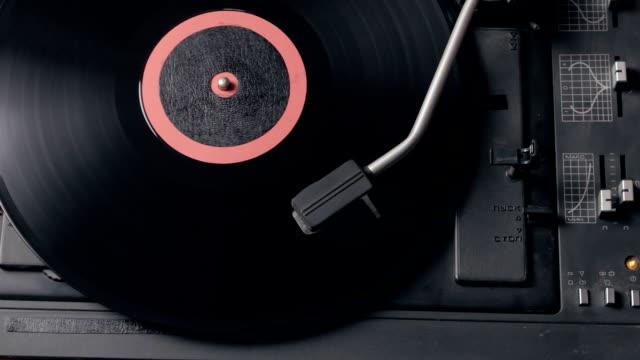 Record player playing vinyl. Retro Vinyl Turntable Stylus video