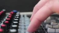 Recording live performance using a mixing desk video