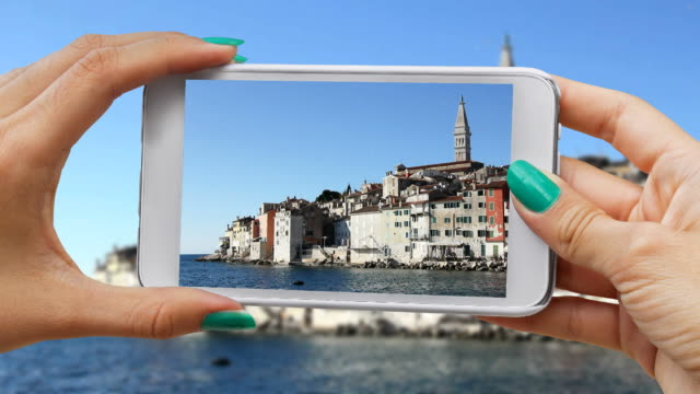 Recording Rovinj with cellphone video