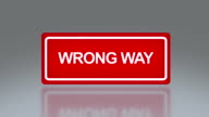 rectangle signage of wrong way video