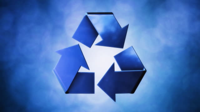 Recycle Symbol Blue video