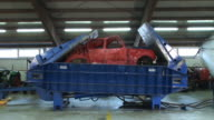 HD TIME-LAPSE: Recycling cars video