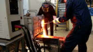 Recycling rare metal by melting in induction furnace. video