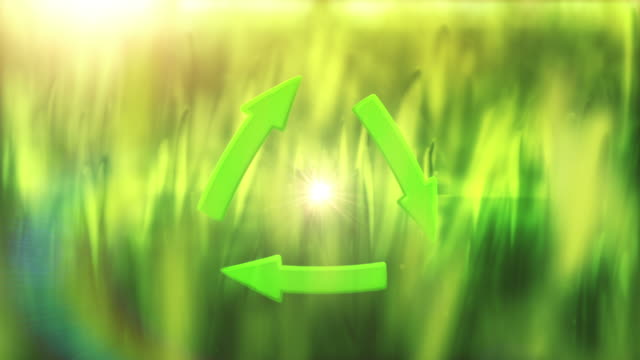Recycling Symbol (centered) - Loop video