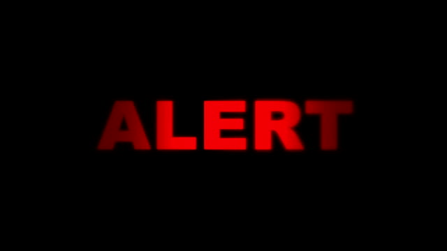 Red Alert Alarm Going on and Off video