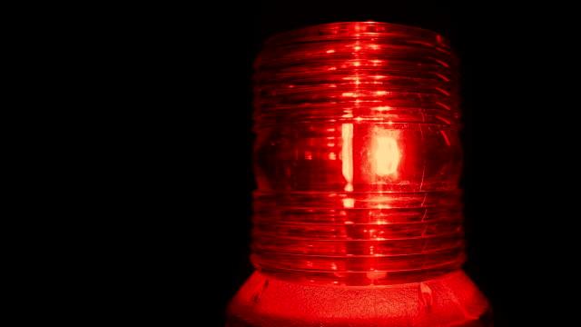 Red Alert Alarm Light Flashing video