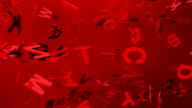 Red Alphabets On Red Background video