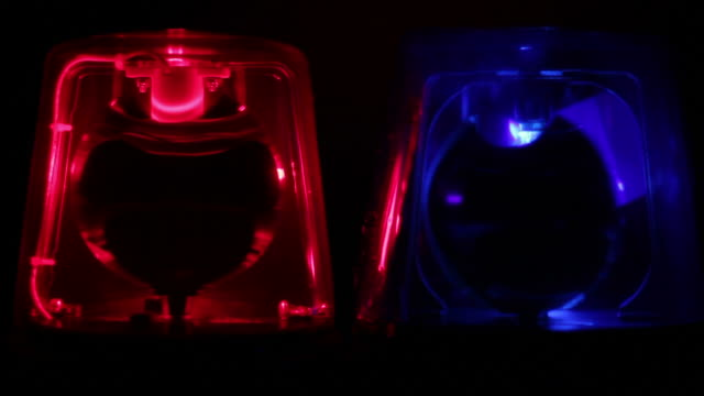 Red & Blue Police siren beacons video