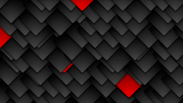 Red and black tech squares video animation video
