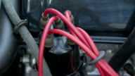 Red and black wires from the engine car video