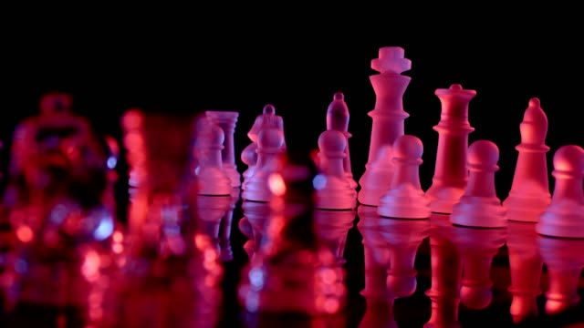 Red and blue chess board 2 video