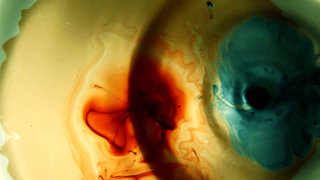 Red and Blue Ink Drops in Water video