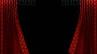 red and gold pattern curtain with spotlight opening scene video