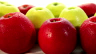 Red and green apples video
