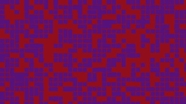 Red and purple digital noise signal video