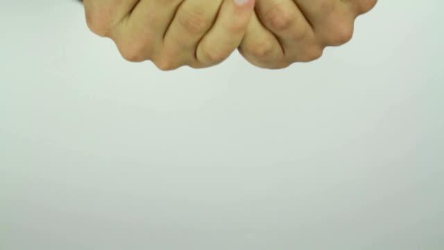 Red Apple in Man's Hands video