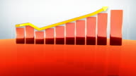 Red bar chart video