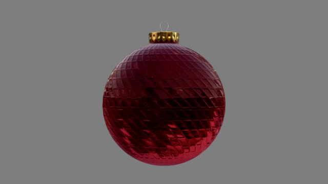 Red Bauble Christmas Ornament video