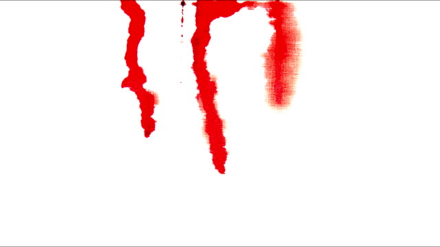 red blood blots on white colors video