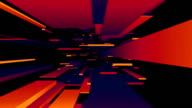 Red / Blue / Orange Blocks Tunnel Loop | Abstract Futuristic Animation video