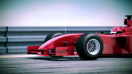 F1 red bolide in slow motion. Beautiful 3d animation. video