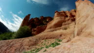 red canyon in Sibillini mountains in central Italy video