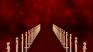 red carpet entrance with Light Burst over curtain video