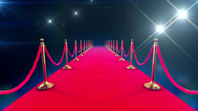 Red Carpet Event. Looped animation of a walk down video